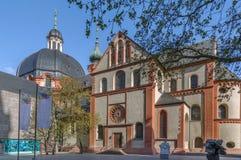 Neumunsterkerk, Wurzburg, Duitsland stock afbeelding
