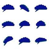 Neun dunkelblaue Wolken 3d Lizenzfreie Stockfotografie