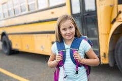 Neun Jahre alte Studentin in der Schule Stockbild