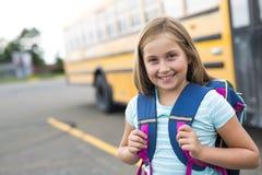Neun Jahre alte Studentin in der Schule Stockfoto