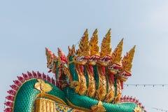 Neun Köpfe Naga Stockfoto