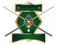Neun Kugel-Emblem-Auslegung vektor abbildung
