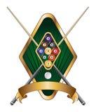 Neun Kugel-Emblem-Auslegung-Fahne stock abbildung