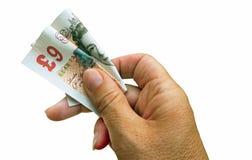 Neun-Pfund-Anmerkung - getrennt Lizenzfreies Stockfoto