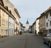 Neunkirch, SH-/die Schweiz - 10. November 2018: historisches Dorf von Neunkirch fast vollständig leer auf einem frühen Wochenende lizenzfreies stockfoto