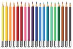 Neunzehn Bleistifte Lizenzfreie Stockfotos
