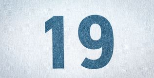 Neunzehn Kalendertag Stockbild