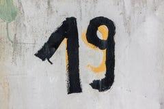 Neunzehn Zahl Stockbild