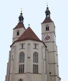 Neupfarrkirche在雷根斯堡 库存照片