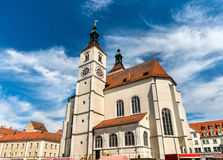 Neupfarrkirche Church in Regensburg, Germany Royalty Free Stock Photos