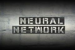 Neuraal netwerk gr. royalty-vrije stock foto