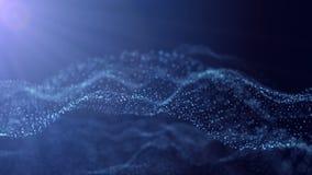Neuraal netwerk van gloeiende punten De naadloze 3D lijnanimatie geeft terug Abstracte animatie royalty-vrije illustratie
