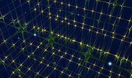 Neuraal netwerkconcept Royalty-vrije Stock Afbeelding