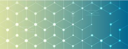 Neuraal netwerkconcept Verbonden cellen met verbindingen Geavanceerd technisch proces royalty-vrije illustratie