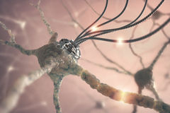 Neural Nanotechnology Stock Photo