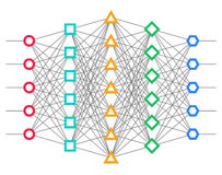 Neural net. Neuron network. Stock Photos