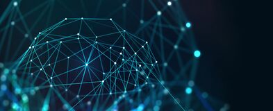 Free Neural Network, Artificial Intelligence, Social Connections, Digital Database, Polygonal Mesh Stock Images - 217085854