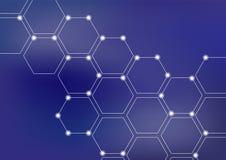 Neural network or blockchain vector illustration background stock illustration