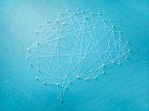 Neural network. Created by pins and threads Stock Photography