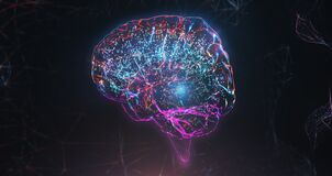 Free Neural Network Cyber Brain Artificial Intelligence Stock Image - 216217661