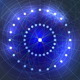 Neural Network Illustration Vector. Deep Learning Concept Stock Photography