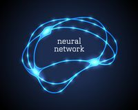 Free Neural Network Logo With Human Luminescent Brain Stock Images - 133924354