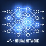 Neural Network. Machine Learning concept vector illustration.  Royalty Free Stock Photos