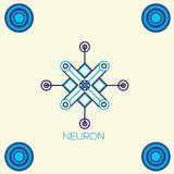 Neural networks, conceptual sign with neuron shape. Logo Royalty Free Stock Photo
