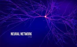 Neural sieci 3d abstrakcjonistyczna wektorowa ilustracja Dane drzewo z korzeniem Ewidencyjny strumień Nasiono oblicza system royalty ilustracja