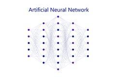 Neural sieci model z cienkimi synapses między neuronami ilustracji
