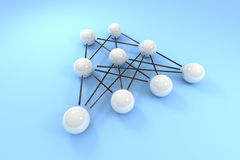 Neural topology Royalty Free Stock Image