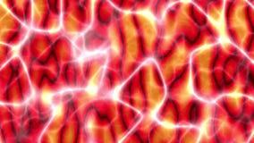 Neurale netwerk rode kleur stock illustratie