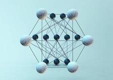 Neurale Netwerken Royalty-vrije Stock Afbeeldingen