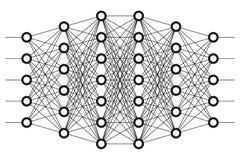 Neurales Netz Neuronnetz Lizenzfreie Stockfotos