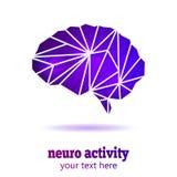 Neuro aktivitetshjärna Royaltyfri Bild