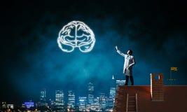 Neurologie- und Gehirnforschungskonzept stockfotografie