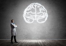 Neurologie- und Gehirnforschungskonzept lizenzfreies stockfoto