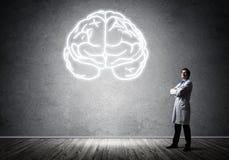 Neurologie- und Gehirnforschungskonzept lizenzfreie stockfotos