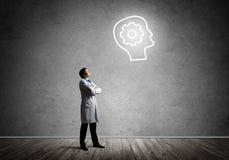 Neurologie- und Gehirnforschungskonzept lizenzfreie stockfotografie