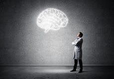Neurologie- und Gehirnforschungskonzept lizenzfreie stockbilder