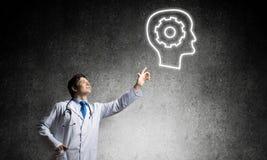 Neurologie- und Gehirnforschungskonzept stockbild