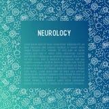 Neurologiekonzept mit dünner Linie Ikonen vektor abbildung