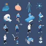 Neurology Icons Set. Neurology and neural surgery icons set isometric isolated vector illustration vector illustration
