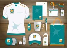 Neurology Star Gift Items Logo, corporate identity template design, stationery green. Neurology Star Gift Items Logo With corporate identity template design of Royalty Free Stock Photos