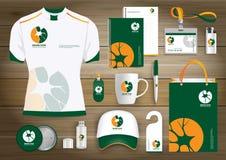 Neurology Star Gift Items Logo, corporate identity template design, stationery green Stock Photos