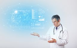 Neuroloog die het testresultaat tonen vector illustratie