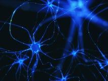 Neuron-elektrische Impulse stock abbildung