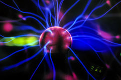 Neuron impulse. Electric generator imitating neurological impulse, signal transmission and electrical connections of neurons Stock Images
