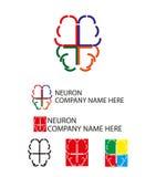 Neuron logo, brain logo - vector illustration. Stock Photo