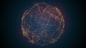 Neuronas que encienden y que forman nuevas conexiones en la inteligencia artificial - malla de la red AI libre illustration